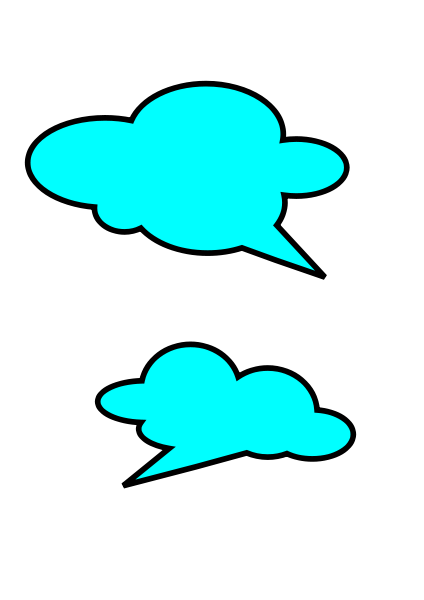 Talk Bubbles Clipart png free, Talk Bubbles transparent png