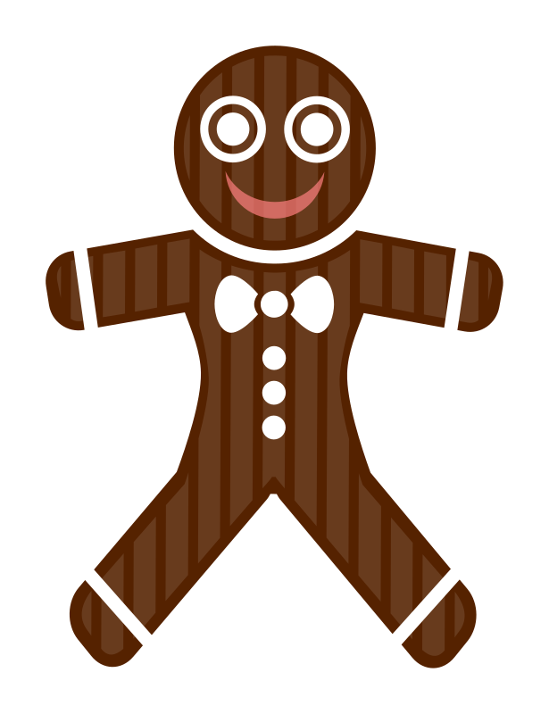 Gingerbread Man Clipart png free, Gingerbread Man transparent png