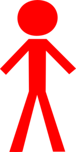 Red Stick Man Clipart png free, Red Stick Man transparent png