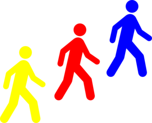 Walking Man Colors Clipart png free, Walking Man Colors transparent png