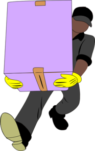 Black Man Carrying Box Clipart png free, Black Man Carrying Box transparent png