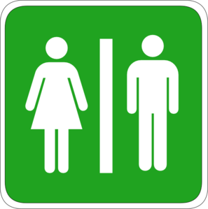 Man&Woman Toilet Sign Clipart png free, Man&Woman Toilet Sign transparent png