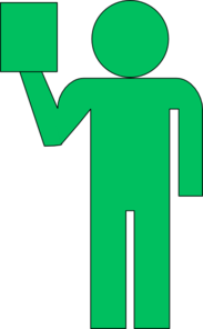Man With Ipad Green Clipart png free, Man With Ipad Green transparent png
