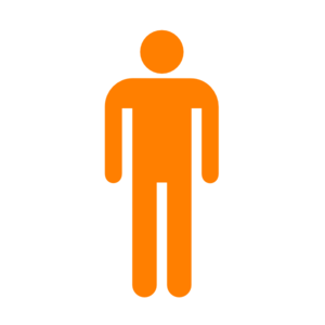 Man Silhouette Without Border Orange Clipart png free, Man Silhouette Without Border Orange transparent png