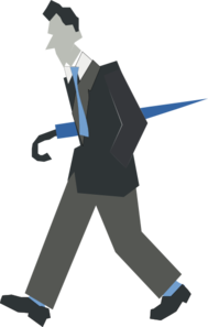 Male With Umbrella Clipart png free, Male With Umbrella transparent png