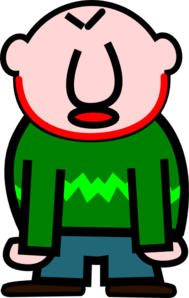 Angry Bald Man With Red Mark On Neck Clipart png free, Angry Bald Man With Red Mark On Neck transparent png
