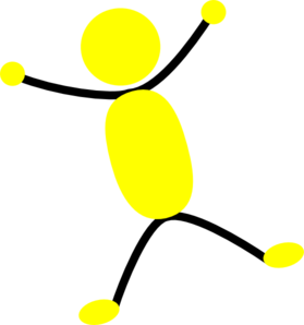 Yellow And Black Man Jumping Clipart png free, Yellow And Black Man Jumping transparent png