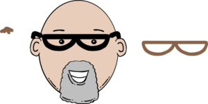 Bald Man Face Cartoon With Mustache Clipart png free, Bald Man Face Cartoon With Mustache transparent png