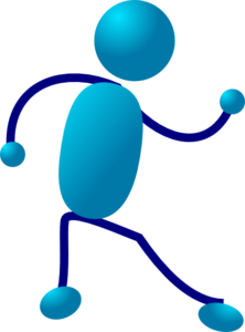 Blue Stickman Walk Clipart png free, Blue Stickman Walk transparent png