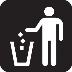 Litter Receptacle Black Clipart png free, Litter Receptacle Black transparent png