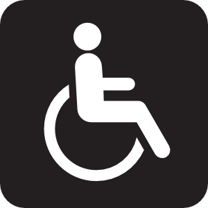 Wheelchair Accessible Black Clipart png free, Wheelchair Accessible Black transparent png