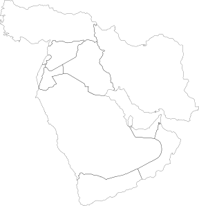 Middle East Political Map Clipart png free, Middle East Political Map transparent png
