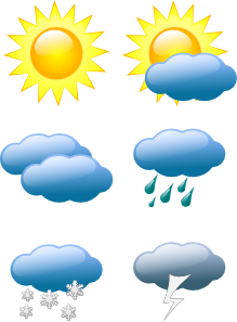 Weather Symbols Clipart png free, Weather Symbols transparent png