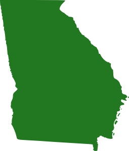 State Of Georgia Map Clipart png free, State Of Georgia Map transparent png