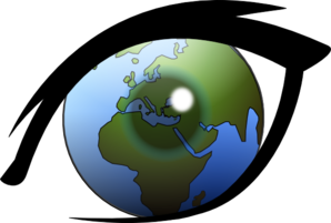 Eye Can See The World Europe, Africa And Middle East Clipart png free, Eye Can See The World Europe, Africa And Middle East transparent png