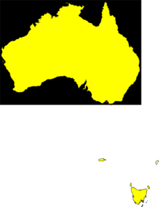 Australia Map Yellow Clipart png free, Australia Map Yellow transparent png