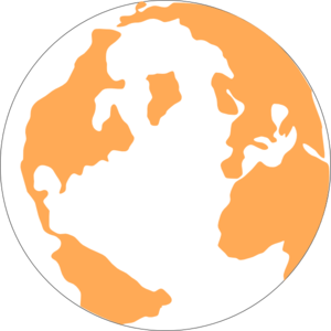 Orange And Blue Globeju Clipart png free, Orange And Blue Globeju transparent png