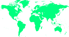 World Map In Light Green Clipart png free, World Map In Light Green transparent png