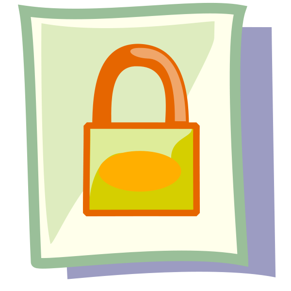 File Locked Clipart png free, File Locked transparent png