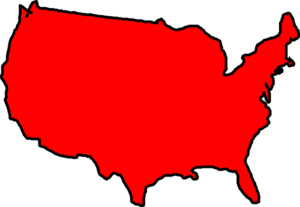 Red Map Usa Clipart png free, Red Map Usa transparent png