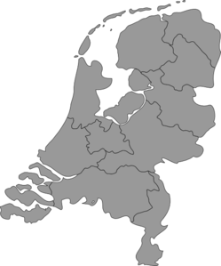Netherlands Map Clipart png free, Netherlands Map transparent png