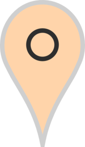 Google Map Pointer Beige Clipart png free, Google Map Pointer Beige transparent png