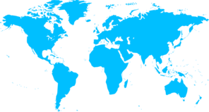 Blue Map Of Countries Clipart png free, Blue Map Of Countries transparent png