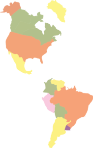 Map Of The Americas Clipart png free, Map Of The Americas transparent png