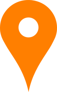 Orange Map Pin Clipart png free, Orange Map Pin transparent png