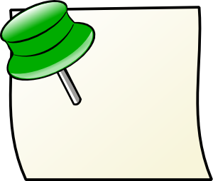 Note With Pin 3 Clipart png free, Note With Pin 3 transparent png