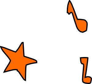 Music Notes Star Clipart png free, Music Notes Star transparent png