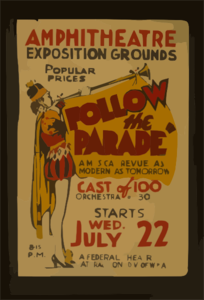 Follow The Parade  [At The] Amphitheatre Exposition Grounds A Musical Revue As Modern As Tomorrow. Clipart png free,  Follow The Parade  [At The] Amphitheatre Exposition Grounds A Musical Revue As Modern As Tomorrow. transparent png