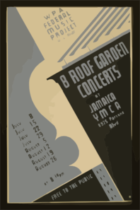 Wpa Federal Music Project Will Present 8 Roof Garden Concerts At Jamaica Ymca Free To The Public. Clipart png free, Wpa Federal Music Project Will Present 8 Roof Garden Concerts At Jamaica Ymca Free To The Public. transparent png