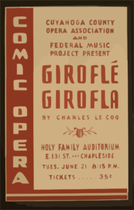 Cuyahoga County Opera Association And Federal Music Project Present  Giroflé Girofla  By Charles Le Coq Comic Opera. Clipart png free, Cuyahoga County Opera Association And Federal Music Project Present  Giroflé Girofla  By Charles Le Coq Comic Opera. transparent png