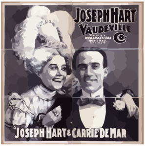 Joseph Hart Vaudeville Co. Direct From Weber & Fields Music Hall, New York City. Clipart png free, Joseph Hart Vaudeville Co. Direct From Weber & Fields Music Hall, New York City. transparent png