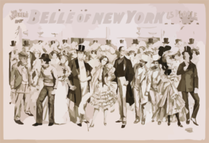 Geo. W. Lederer S Belle Of New York The Rage Of Two Continents : Book By Hugh Morton ; Music By Gustav Kerker. Clipart png free, Geo. W. Lederer S Belle Of New York The Rage Of Two Continents : Book By Hugh Morton ; Music By Gustav Kerker. transparent png