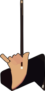 Maestro Holding Stick Clipart png free, Maestro Holding Stick transparent png