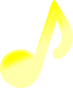 Yellow Music Note Clipart png free, Yellow Music Note transparent png