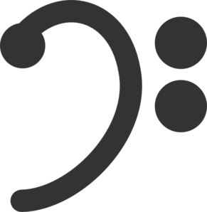 Bass Clef Clipart png free, Bass Clef transparent png