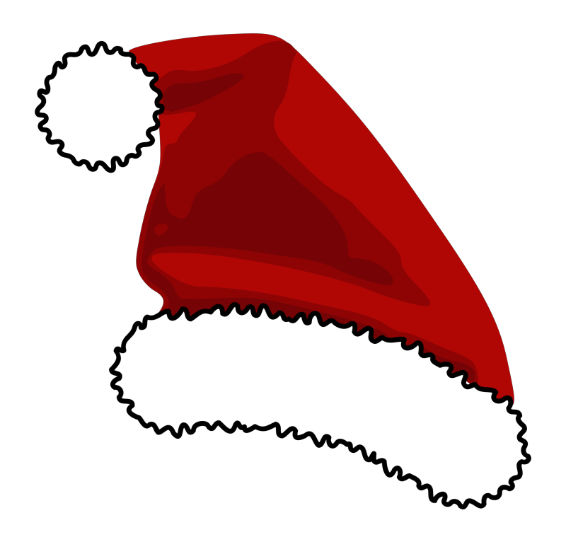 Red Santa Claus Hat Clipart png free, Red Santa Claus Hat transparent png