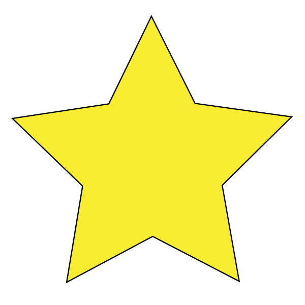 Simple Star Clipart png free, Simple Star transparent png