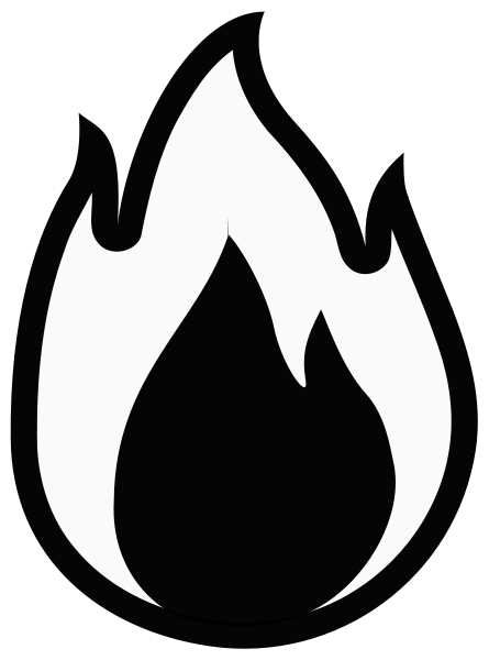 Fire Monochrome Clipart png free, Fire Monochrome transparent png