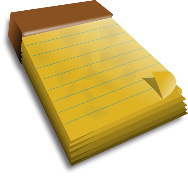 3D Note Book Clipart png free, 3D Note Book transparent png