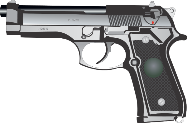 9Mm Pistol Clipart png free, 9Mm Pistol transparent png