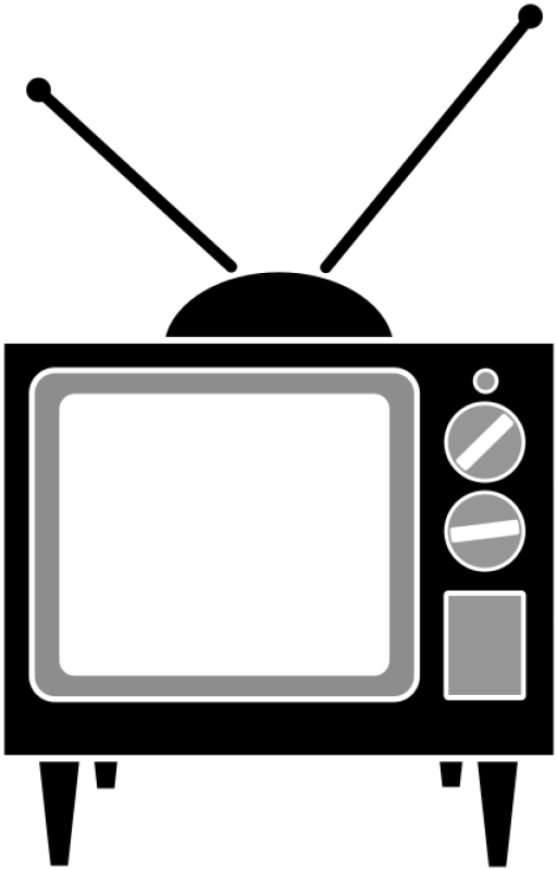 Simple Television Clipart png free, Simple Television transparent png