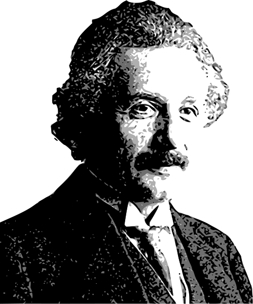 Albert Einstein Vector Clipart png free, Albert Einstein Vector transparent png