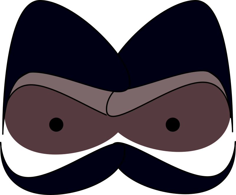 Face With Mustaches Clipart png free, Face With Mustaches transparent png