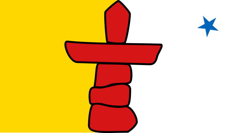 Flag Of Nunavut, Canada Clipart png free, Flag Of Nunavut, Canada transparent png