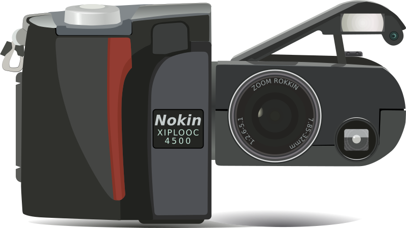 Nikon Digital Camera Clipart png free, Nikon Digital Camera transparent png