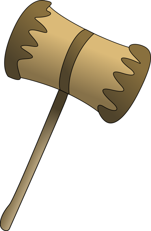 Wooden Mallet Clipart png free, Wooden Mallet transparent png